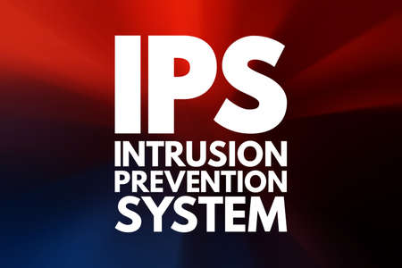 IPS - Intrusion Prevention System acronym, technology concept background