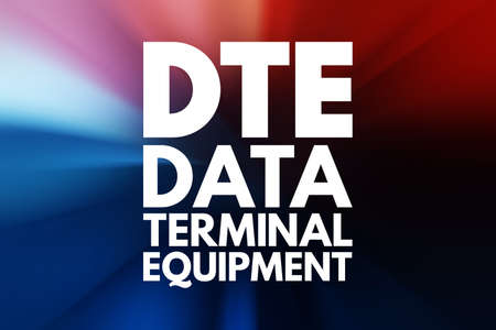 DTE - Data Terminal Equipment acronym, technology concept background