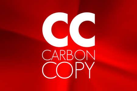 CC - Carbon Copy acronym, concept background 写真素材