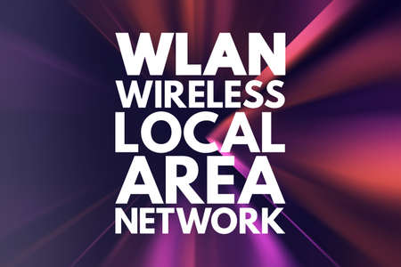 WLAN - Wireless Local Area Network acronym, technology concept background