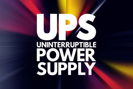 UPS - Uninterruptible Power Supply acronym, technology concept background 写真素材