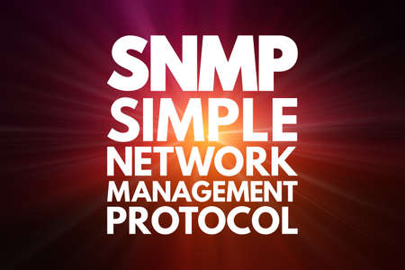 SNMP - Simple Network Management Protocol acronym, technology concept background