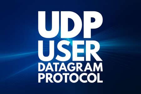 UDP - User Datagram Protocol acronym, technology concept background 写真素材