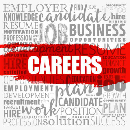 CAREERS word cloud collage, business concept background 写真素材