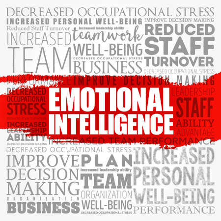 Emotional intelligence word cloud collage, business concept background 写真素材