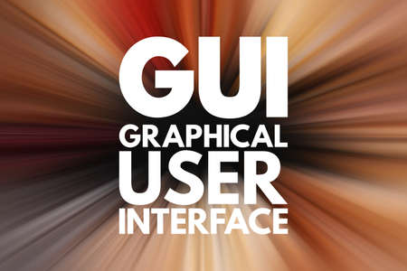 GUI - Graphical User Interface acronym, technology concept background
