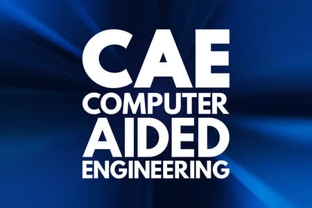 CAE - Computer Aided Engineering acronym, technology concept background