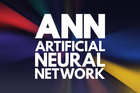 ANN - Artificial Neural Network acronym, technology concept background Stockfoto