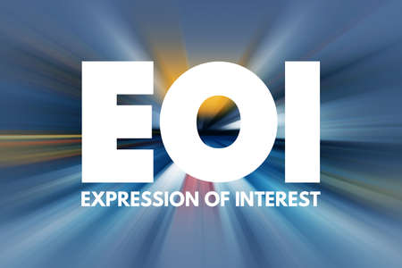 EOI - Expression of Interest acronym, business concept background