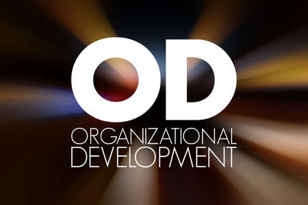 OD - Organizational Development acronym, business concept background