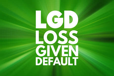 LGD - Loss Given Default acronym, business concept background Zdjęcie Seryjne