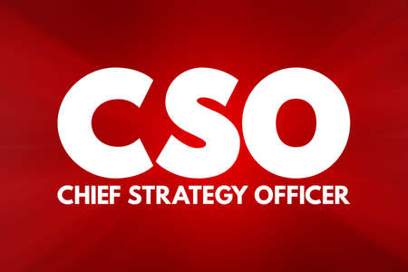 CSO - Chief Strategy Officer acronym, business concept background