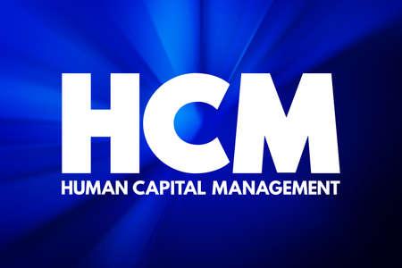 HCM - Human Capital Management acronym, business concept background