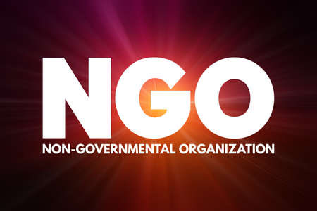 NGO - Non-Governmental Organization acronym, business concept background