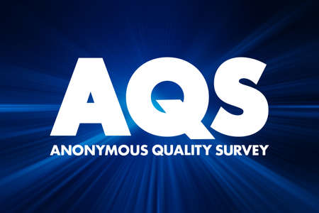 AQS - Anonymous Quality Survey acronym, concept background