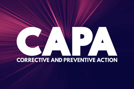 CAPA - Corrective and preventive action acronym, business concept background