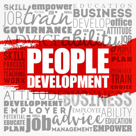 People Development word cloud collage, business concept background