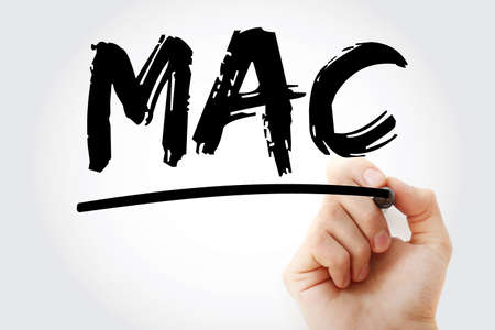 MAC - Media Access Control acronym with marker, technology concept background