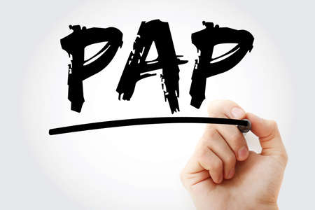 PAP - Password Authentication Protocol acronym with marker, technology concept background