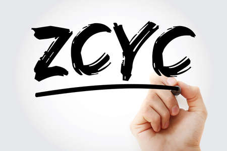 ZCYC - Zero Coupon Yield Curve acronym with marker, business concept background