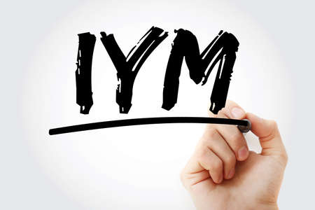 IYM - Improve Your Motivation acronym with marker, concept background
