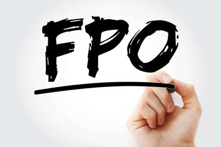 FPO – Follow on Public Offer acronym with marker, business concept background
