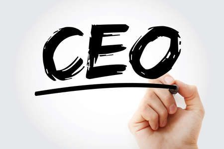 CEO - Chief executive officer acronym with marker, business concept background