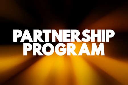 Partnership Program text quote, concept background