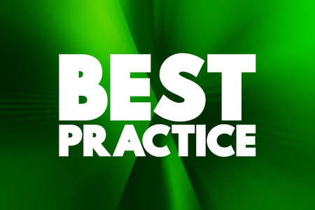 Best Practice text quote, concept background
