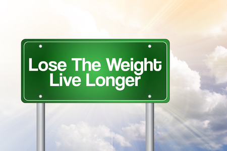 longer: Lose The Weight Live Longer Green Road Sign concept