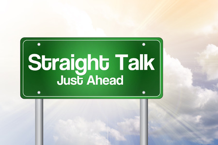 just ahead: Straight Talk, Just Ahead Green Road Sign, business concept