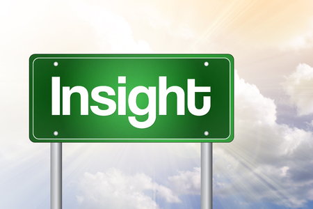 insightful: Insight Green Road Sign, business concept