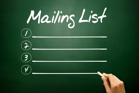 mail address: Hand drawn Mailing list blank list, business concept