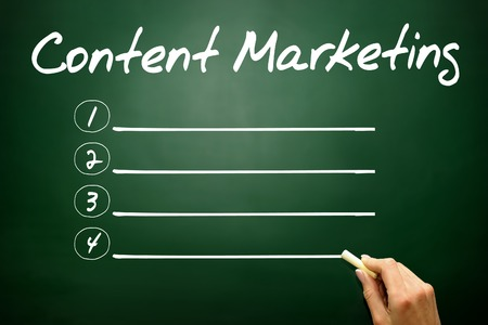 meta data: Hand drawn Content Marketing blank list, business concept Stock Photo