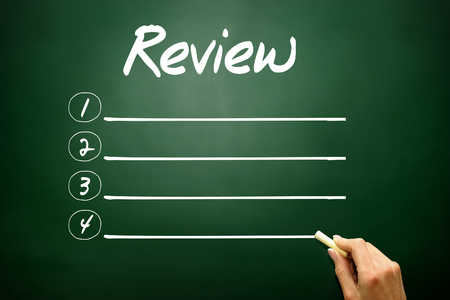 appraise: Hand drawn Review blank list, business concept