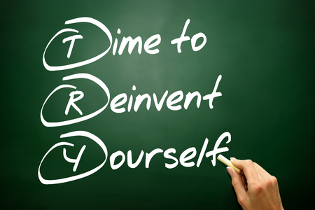 revitalize: Hand drawn Time to Reinvent Yourself (TRY), business concept