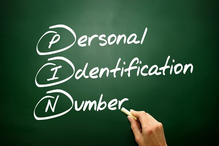 personal identification number: Hand drawn Personal Identification Number (PIN), business concept acronym