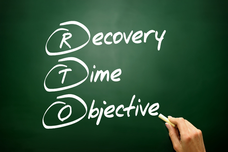 Hand drawn Recovery Time Objective (RTO), business concept acronym photo