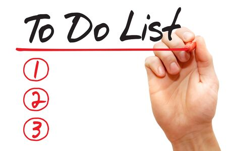 competency: Hand writing Learn in To Do List with red marker, business concept