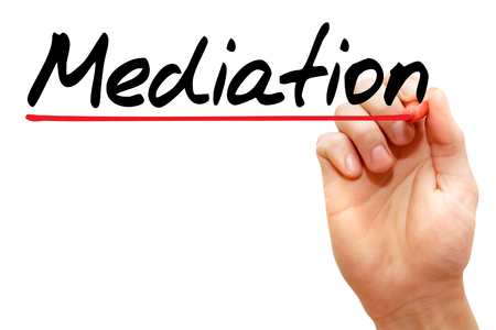 mediator: Hand writing Mediation with marker, business concept