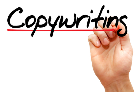 copywriting: Hand writing Copywriting with marker, business concept