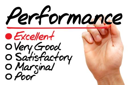 evaluacion: Formulario de evaluaci�n de rendimiento de escritura a mano, concepto de negocio