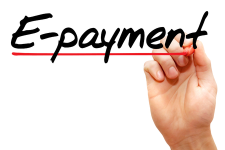 epayment: Hand writing E-payment with marker, business concept Stock Photo