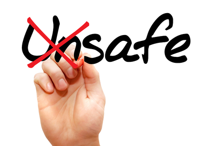 unsafe: Turning the word Unsafe into Safe, business concept