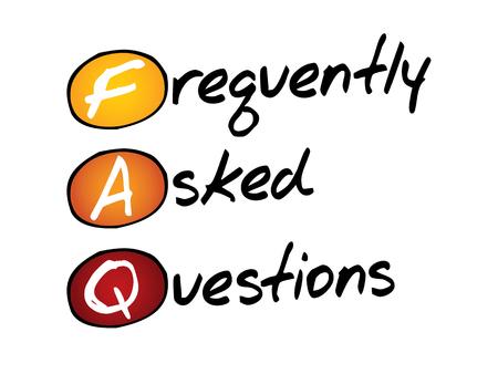 자주 묻는 질문 (FAQ), 비즈니스 개념 머리 글자 어 스톡 콘텐츠 - 37194748