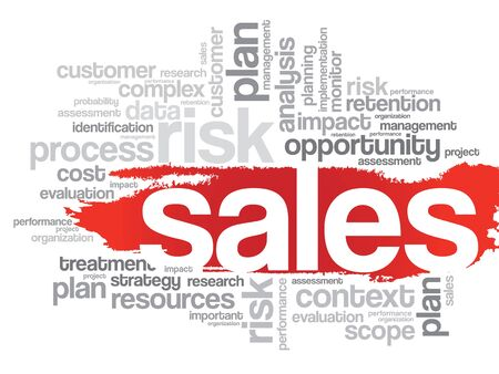 relationsip: Word Cloud with Sales related tags, vector business concept