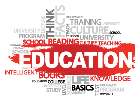 business collage: EDUCATION. Word business collage, vector background Illustration