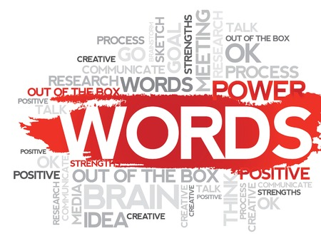 business collage: WORDS. Word business collage, vector background