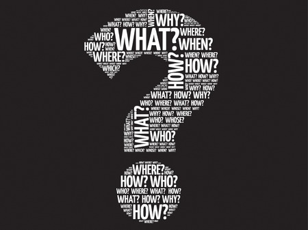 questions: Question mark, Question words vector concept Illustration