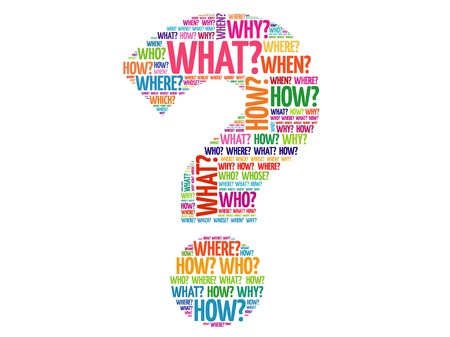 Question mark, Question words vector concept Vettoriali